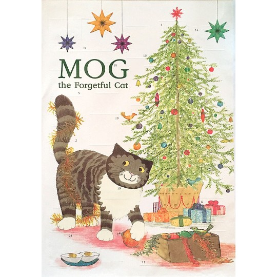 Mog the Forgetful Cat Glittered Christmas Advent Calendar ~ England