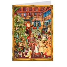 Victorian Christmas Advent Calendar Card ~ Germany