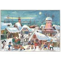 Christmas Windmill Paper Advent Calendar