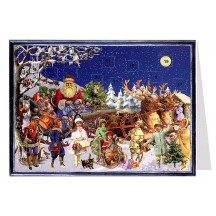 Victorian Sleigh Advent Calendar Card ~ Germany
