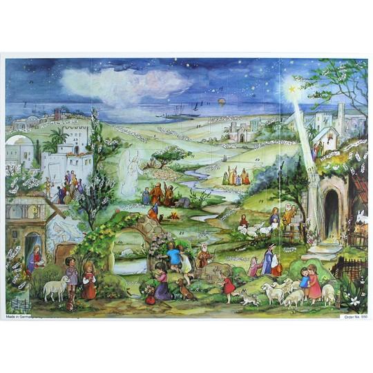 Pastoral Bethlehem Standing Advent Calendar
