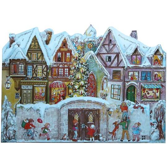 Standing Christmas Village German Advent Calendar