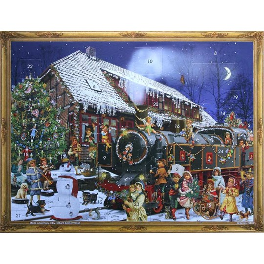 Christmas Train Station Victorian Advent Calendar ~  New for 2013