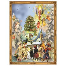 "Victorian Stairway to Heaven Advent Calendar ~ 14-1/4"" x 10-1/2"""