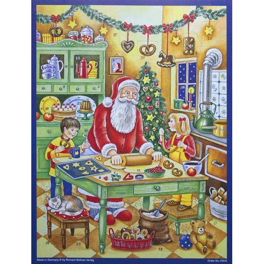 "Baking with Santa Paper Advent Calendar ~ 14"" x 10-1/2"""