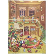"Visiting with Santa Paper Advent Calendar ~ 10-1/4"" by 14-1/4"""