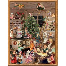 "Baking Angels Victorian Style Advent Calendar ~ 14"" x 10"""