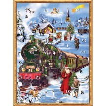 "Victorian Christmas Train Advent Calendar ~ 14"" x 10"""