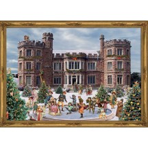 "Victorian Castle Advent Calendar ~ 14"" x 10"""