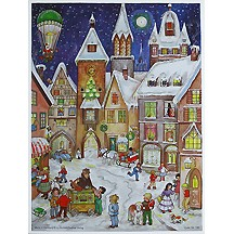 Village Happenings Paper Advent Calendar