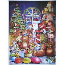 Santa and the Bears Vintage Style Advent Calendar