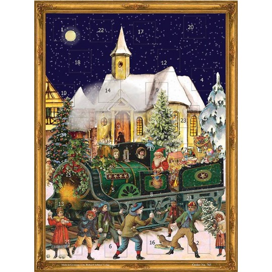 "Christmas Train Victorian Style Advent Calendar ~ 14"" x 10"""