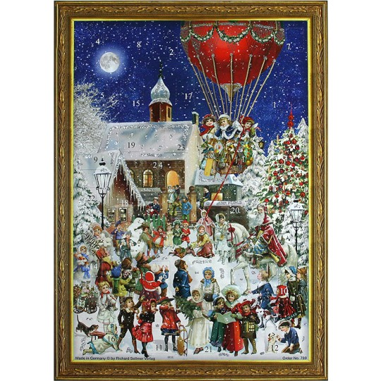 Hot Air Balloon Victorian Style Advent Calendar