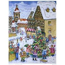 Village Christmas Tree German Advent Calendar ~ New for 2012
