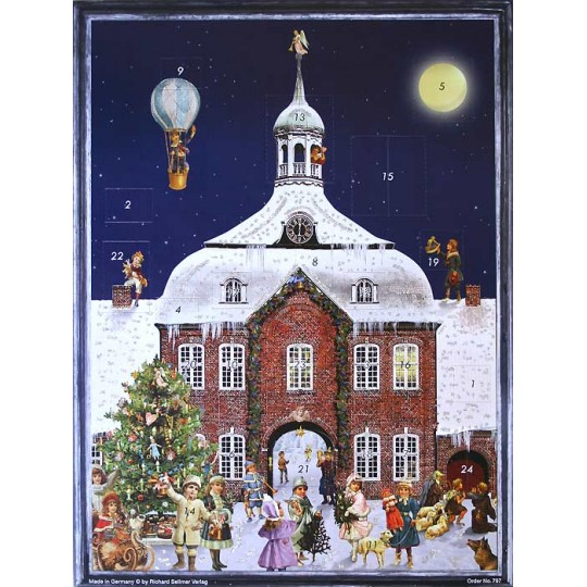 Snowy Tower Victorian Advent Calendar ~  New for 2012