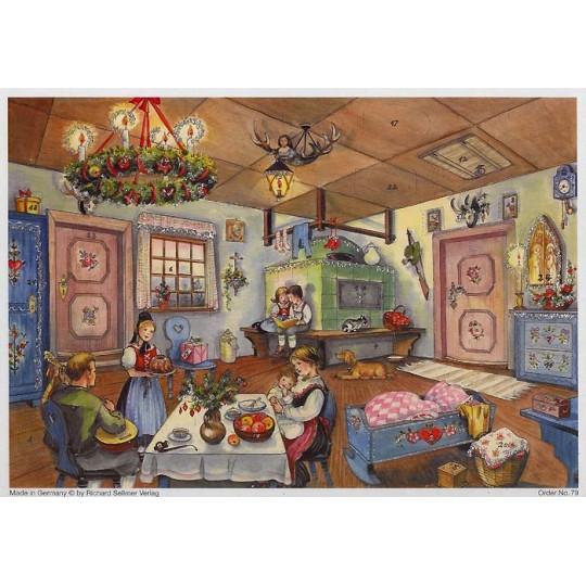 Traditional Scandinavian Christmas  Advent Calendar