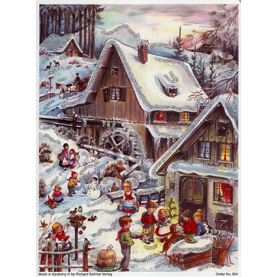 Snowy Mill German Advent Calendar