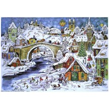 Snowy Winter Bridge German Advent Calendar ~ New for 2012