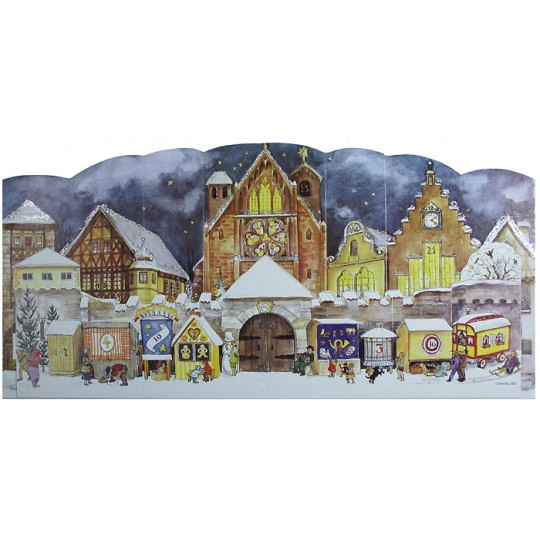 Christmas Market Standing Advent Calendar