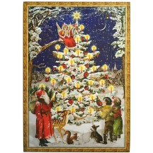"Forest Christmas Tree Advent Calendar ~ 16-1/2"" x 11-3/4"""
