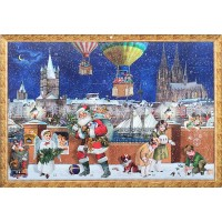 "Koln Christmas with Santa Advent Calendar ~ 16-1/2"" x 11-3/4"""