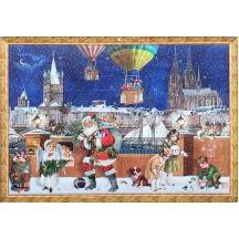 """Koln Christmas with Santa Advent Calendar ~ 16-1/2"""" x 11-3/4"""""""