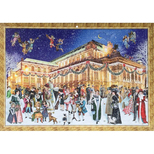 "Vienna Christmas with Fancy Victorians Advent Calendar ~ 16-1/2"" x 11-3/4"""