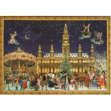 "Vienna Christmas with Carousel Advent Calendar ~ 16-1/2"" x 11-3/4"""
