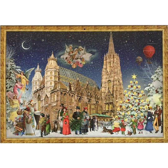 "Vienna Christmas at Stephansdom Advent Calendar ~ 16-1/2"" x 11-3/4"""