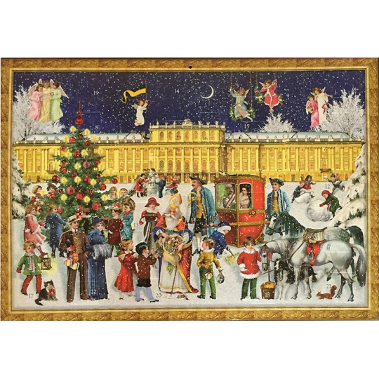 "Vienna Christmas at Schoenbrunn Palace Advent Calendar ~ 16-1/2"" x 11-3/4"""
