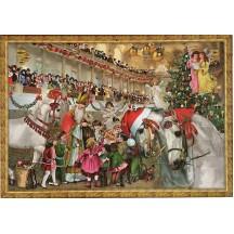 """Vienna Lipizzaner Stallions Advent Calendar ~ 16-1/2"""" x 11-3/4"""""""