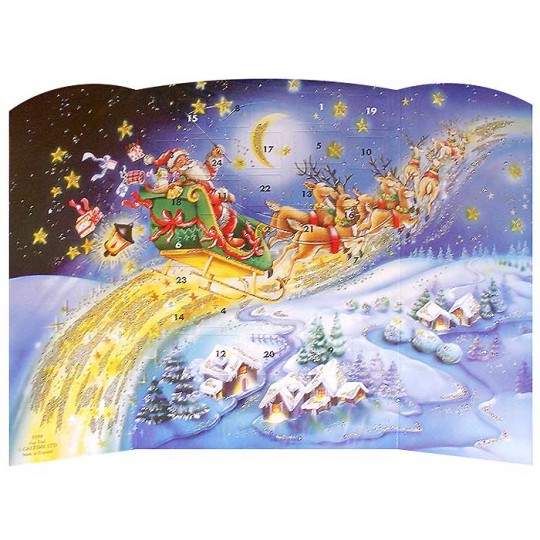 Santa Star Trail Standing Advent Calendar