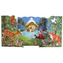 Standing 3-D Wildlife Nativity Advent Calendar ~ England