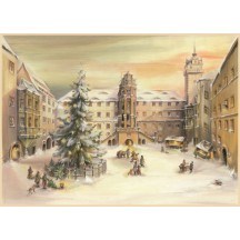"Christmas at Hartenfels Castle Advent Calendar ~ Germany ~ 14-3/4"" x 10-1/4"""