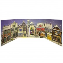 Little Town Folding Advent Calendar