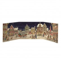 European Village Square Folding Advent Calendar
