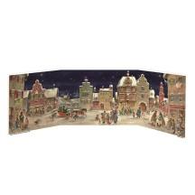 European Village Square Folding Advent Calendar
