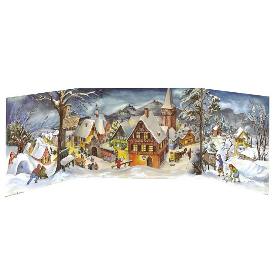 Snowy Village Folding Advent Calendar