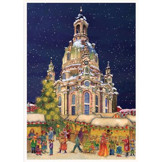 "Christmas in Dresden Advent Calendar ~ 16-1/2"" x 11-1/2"""