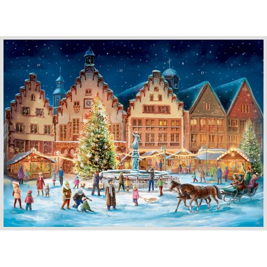 "Christmas in Frankfurt Advent Calendar ~ 16-1/2"" x 11-1/2"""