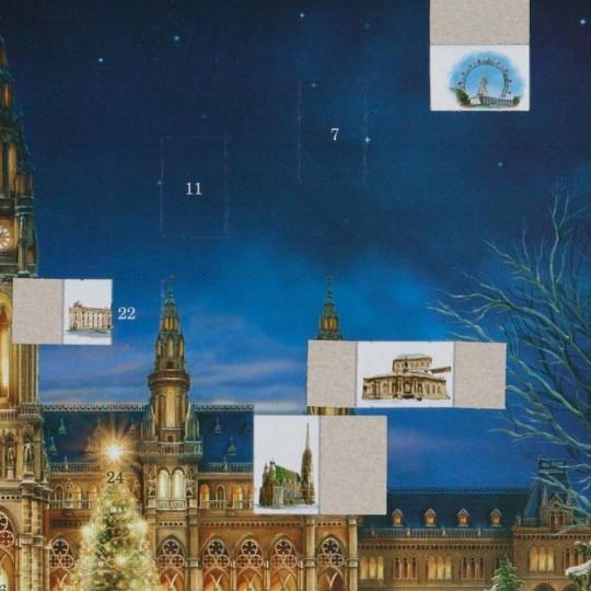 "Christmas in Vienna Advent Calendar ~ 16-1/2"" x 11-1/2"""