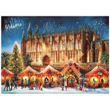 "Christmas in Palma Mallorca Advent Calendar ~ 16-1/2"" x 11-1/2"""