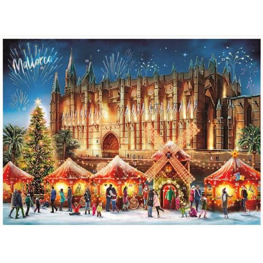 "Christmas in Palma Mallorca Advent Calendar ~ 16-1/2"" x 11-1/2"""