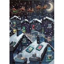 Snowy Rooftops Advent Calendar ~ England