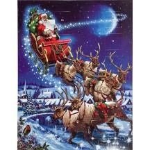 Santa's Sleigh Advent Calendar ~ England
