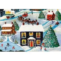 Snowy Christmas Cottage Advent Calendar ~ England