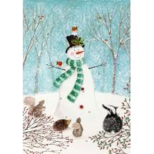 Festive Snowman and Animals Advent Calendar ~ England