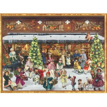 "Victorian Christmas Shopping Advent Calendar ~ 14"" x 10-1/2"""