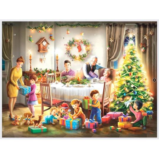"Family Christmas Advent Calendar ~ 14"" x 10-1/2"""