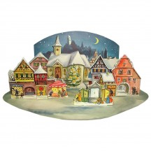 Moonlit Village Theater Style Advent Calendar from Germany